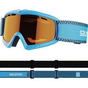 Salomon Kiwi Access Goggles Kids, blue/tonic orange